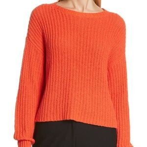 Eileen Fisher Organic Cotton Blend Red Sweater
